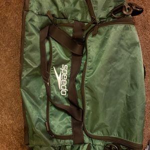 Speedo green duffle bag
